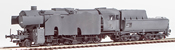 German Steam Locomotive BR 42 of the DRB Wehrmacht Grey Armor Pating (SOUND)